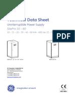 SP 10 60 S8 Technical Data