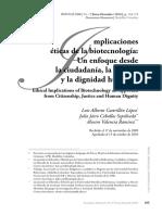 Artículo Biotecnología y Bioética
