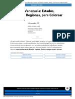 ▷ Mapas de Venezuela por regiones