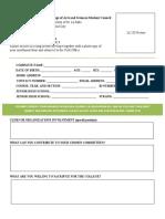CAS Comrades Application Form (Freshmen)