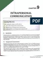 Unit 9 - Intrapersonal Communication