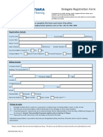 Form daftar pelatihan