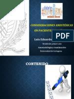 Consideraciones Anestesicas en Diabetes
