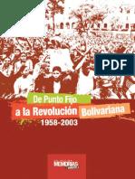 Montaje de Punto Fijo a La Revolucion Boivariana