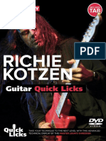 Quick Licks Richie Kotzen Tab Book