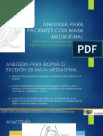 Anestesia Para Masas Mediastinales LEMC