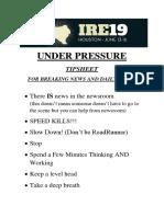 Under Pressure IRE 2019