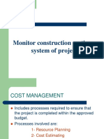 Manage Construction Costing System of Projects