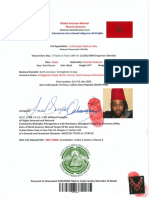Allodial American National Moorish American National Identification Card