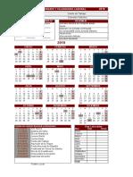 calendario 2019 XLS