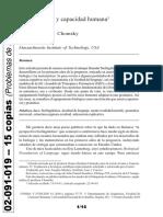 02091019 Chomsky - Biolingüística y Capacidad Humana