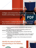 Colleges and Universities in Ph Offering Bs Envi Sci