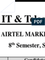 Marketing Plan of Airtel