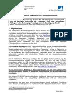 Anleitung Zum Elektronischen Anmeldeverfahren