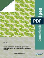 IPEA - Equidade Fiscal No Brasil. Impactos Distributivos Da Tributação e Do Gasto Social [2011]