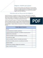 Due Diligence Checklist Para Pymes