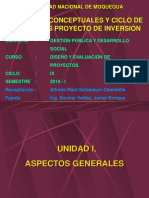 1 Diseño y Evaluación de Proyectos de Inversión Gpds Unam Ix Ciclo 2019 i (2-1)
