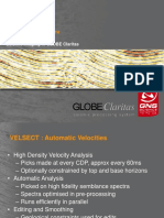 Velsect and PreSDM