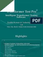 6912245 Transformer Test Software Presentation
