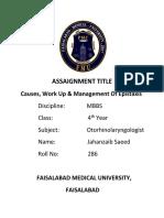 ASSAIGNMENT ENT.docx