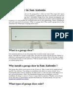 Garage Door Repair San Antonio TX