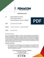 Circular Honorarios Concejales FENACON FEDECAL 2019