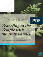 traveling to the temple with the holy family