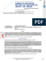 Mapeamento e Análise de geocoberturas no Chapadão do Diamante - MG - Brasil