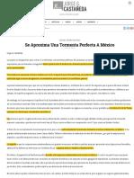 Se aproxima una tormenta perfecta a México - Jorge Castañeda