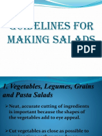 Guidelines for Making Salads