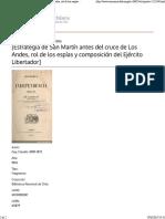 El paso de la cordillera de los Andes
