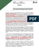 Circular Actualizacion de La Declaracion Jurada Sede