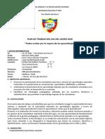 Plan de Trabajo Del Día Del Logro 2019