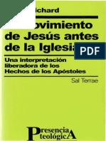 1. El Movimiento de Jesus Antes de La Iglesia PABLO RICHARD