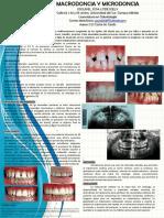 Cartel Macrodoncia y microdoncia Odontología