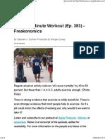 The Zero-Minute Workout (Ep