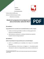 Diseño de la propuesta de investigación-producción de la pieza comunicativa
