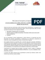 Acta de Acuerdo Entre Los Docentes Contratados y Directivos Del Ceba