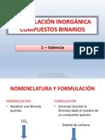 Formulacion Inorganica Valencia