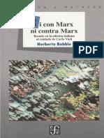 Bobbio - Ni Con Marx Ni Contra Marx