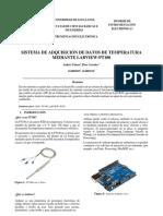 Sistema Adquisición De Datos De Temperatura Mediante Labview - PT100