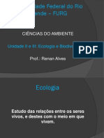 Aula I - Ecologia e Biodiversidade