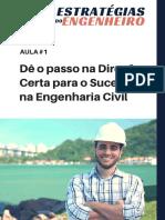 Aula 1 - Dê o passo na Direção certa ruma ao Sucesso na Engenharia.pdf