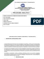 Programa Analitico Curso AUDITORIA