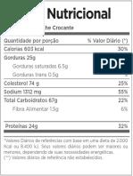 Kfc Tabelas Nutricionais