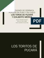 Cerámica Popular en Cusco- Mérida/Puno-Toritos de Pucará