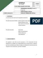 Acta de Cierre Reunión Auditorias JACSPack
