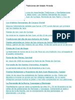 Tradiciones Del Estado Miranda-Cojedes