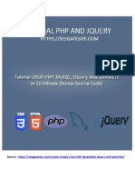 Build CRUD PHP, MySQL, JQuery and AdminLTE in 10 Minutes (Bonus Source Code)