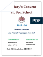 Eco Friendly Hydrogen Fuel Cell Project